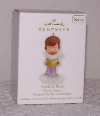 2012 Hallmark Ornament - Mary's Angels - Sterling Rose - 25th in Series