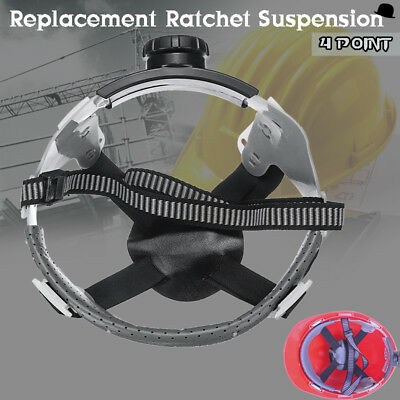 Adjustable 4 Point Ratchet Suspension Replacement Headgear Only For Hard Hat