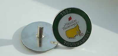 U.s. Masters 1967  Won By Gay Brewer Stemmed Golf Ball Marker & Case