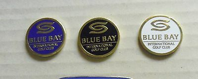 3 only GOLF BALL MARKERS FROM RESORT Blue Bay International