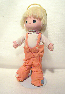 """FORGIVE ME Angel Devil 12"""" Precious Moments Doll 1986 w Stand"""