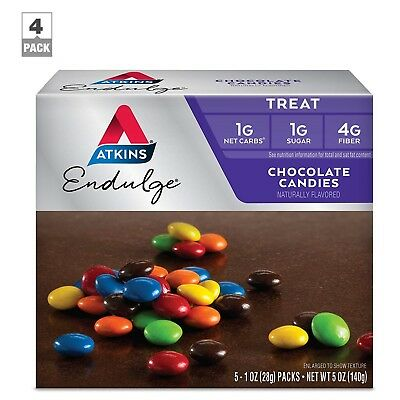 Atkins Chocolate Candies, 1 Ounce, 5 Count, PACK-4
