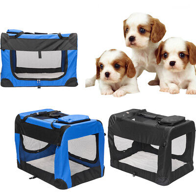 S M L XL XXL XXXL Dog Crate Sided Pet Cat Carrier Kennel Play Cage House Mat