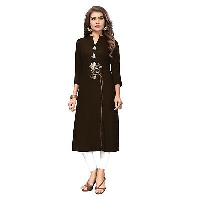 Indian Designer Reyon Kurti And Dress Material And Gowns For Women And Girls