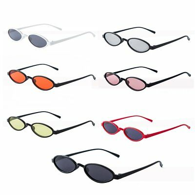 fc24d03442 Hot Mens Women Retro Vintage Small Oval Sunglasses Metal Frame Shades  Eyewear