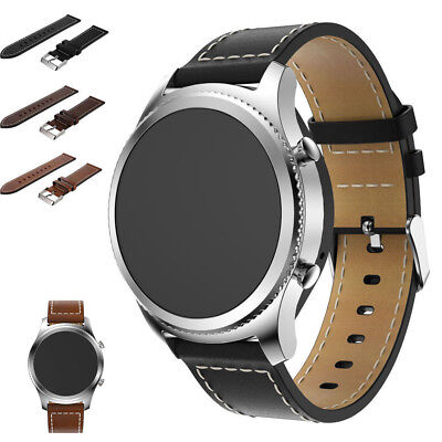 New Replacement Leather Watch Bracelet Strap Band For Samsung Gear S3 Frontier