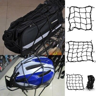 Elastic Bungee Net Holder Motorcycle Storage Helmet Tank Bike Luggage Hook Mesh