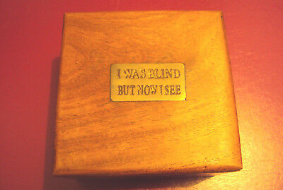 Desk Magnifier in Wooden Box with Humorous Phrase - Magnifying Glass