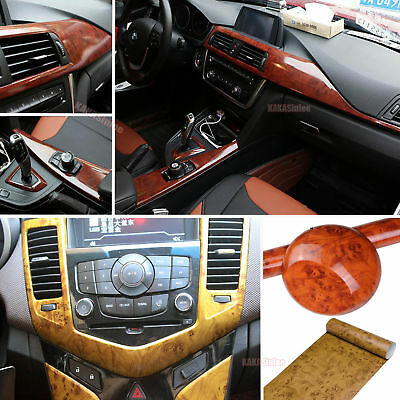 "*24/""x48/"" Wood Grain Vinyl Wrap Sticker Car Home Kitchen Desk Decoration #1398"