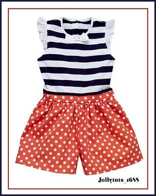 Girls Clothes Nautical Playsuit Age 6-7 Years Spots & Stripes Shorts Outfit
