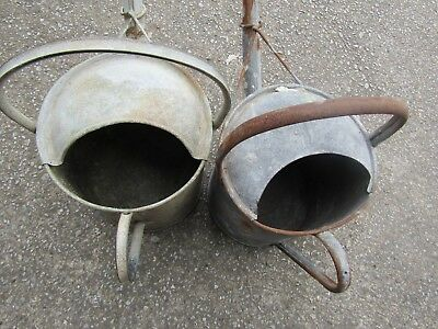 Vintage/shabby Chic Galvanised Watering Cans (2)