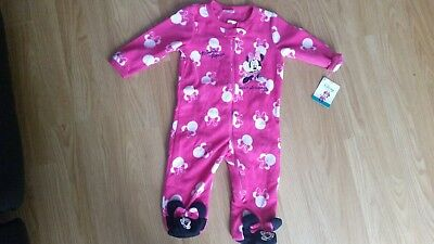 Minnie Mouse Fleece All In One 6-9 Months  (New)
