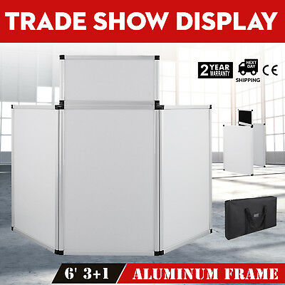 5.9 X 3FT Trade Show Display 3 Panel + 1 Header Carry Bag Fabric Surface