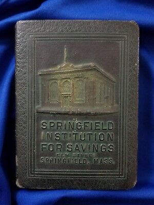 BOOK OF THRIFT SPRINGFIELD INSTITUTION FOR SAVINGS, MASS.  Pat JULY 3, 1923