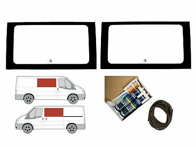 Twin Side Clear Fixed Windows Pair Trim Kit for Ford Transit MK6/7 (00-14) [SWB]