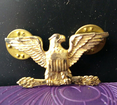 "Vintage Sterling Silver 1.5"" US Army WWII Eagle Pin"