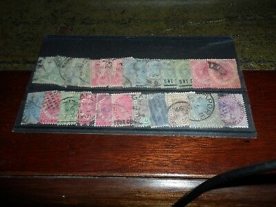 Straits Settlements Collection Of 29 Queen Victoria Stamps