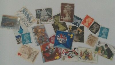 Job Lot of over 20 England stamps used