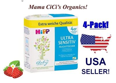 **FREE EXPEDITED SHIPPING** HiPP Baby Soft ULTRA Sensitive Wet Wipes (208 count)
