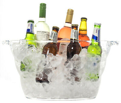 Andes Large 12L Acrylic Ice Bucket Champagne Wine Beer Drinks Cooler