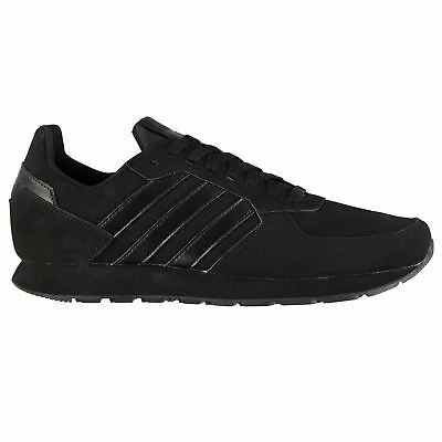 4e787b937a5 adidas 8K Nubuck Sneakers Mens Gents Runners Laces Fastened Padded Ankle  Collar