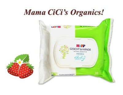 *** FREE SHIPPING *** HiPP Baby Soft ULTRA Sensitive Face and Hand Wipes, 20 ct