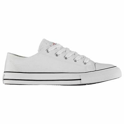 Lee Cooper Canvas Lo Shoes Mens Gents Low Laces Fastened