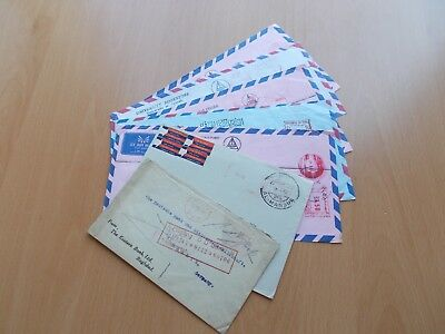 8 x Iraq Commercial Mail Covers / Postcards.  See Pics for Info.