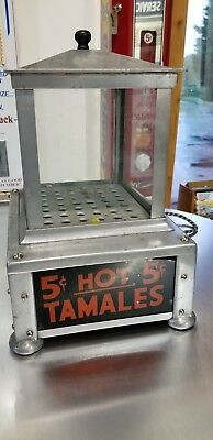 Rare Antique Hot Tamale Counter Warmer Vending Machine 5 Cents Vintage