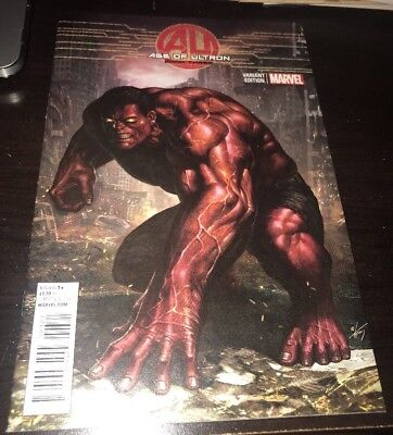 AGE OF ULTRON #3 HIGH GRADE Hyuk Lee 1:50 Red Hulk VARIANT 2013
