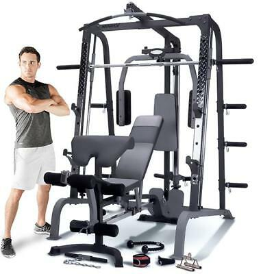 Marcy SM4000 Deluxe Smith Machine Home Multi Gym & Weight Bench
