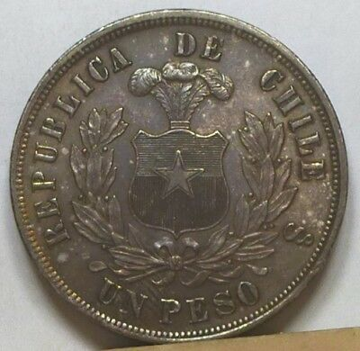 Chile Peso 1878-So Uncirculated NO RESERVE