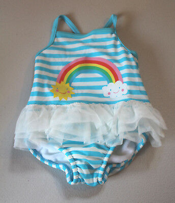 M&S Baby Girls Ages 3-6 &  6-9 Months Swimsuit Swim Nappy XLife Bnwt Rainbow