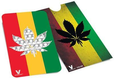 Credit Card Style Grinder Card - Rasta Leaf