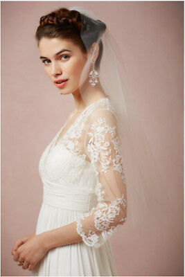 White Tisha Blusher wedding veil from BHLDN. One size. New with tags.