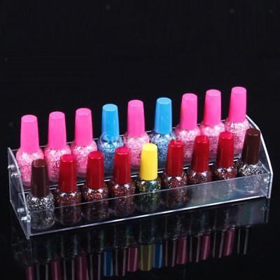 Clear Nail Polish Varnish Lipstick Dispaly Stand Rack Holder Organizer 2 T