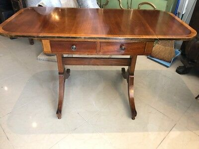 Antique Style Mahogany Drop Flap Sofa Table, could be Writing Desk.
