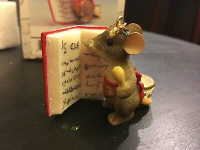 MIB Charming Tails Christmas ornament Fitz and Floyd Holiday Baking Mouse