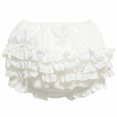 Brand New - Sarah Louise Girls Ivory Frilly Knickers