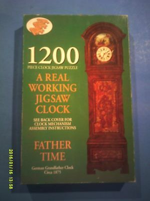 1200 Pc Puzzle Real Working Grandfather Clock + Clock Mechanism & Instructions