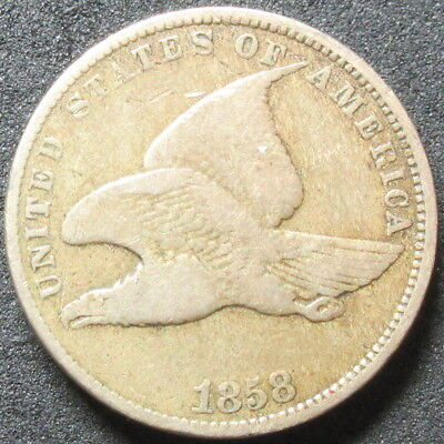 1858 Small Letters Flying Eagle Cent Coin