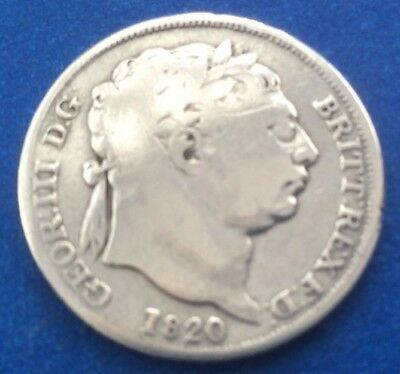 1820 King George Iii Silver (0.925) Sixpence Coin