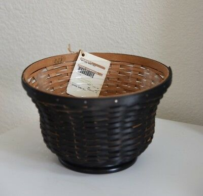 Longaberger Black Revere Bowl Basket and Protector 2010 ~ NEW