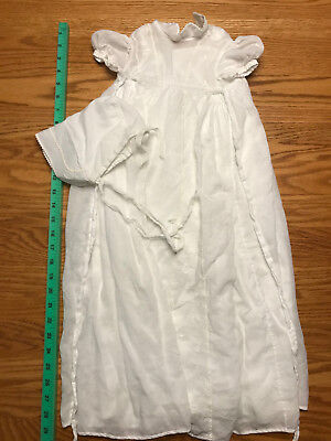 Lot of antique baby clothes, dress bodices, etc.