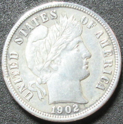 1902 Barber Dime Coin