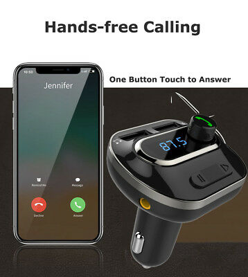 Bluetooth FM Transmitter MP3 Player Car Kit Charger For iPhone6 7 8 X Samsung S9