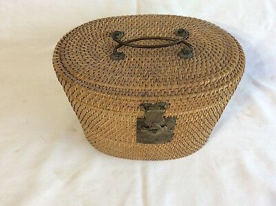 Antique Chinese Tea Pot With Basket