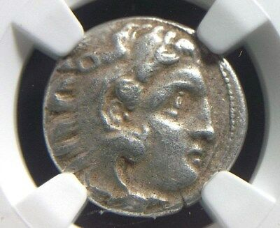 Silver Drachm of Alexander III the Great, 336-323 BC NGC Ch VF  3015