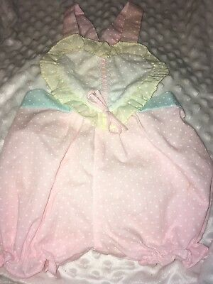 Vintage Adorable Baby Girl Romper One Pc. Outfit 18 Months.