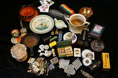 Junk Lot Estate Items Antiques Collectibles Costume Jewelry Resell Vintage-Now